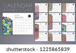 calendar 2019 with mandalas | Shutterstock .eps vector #1225865839