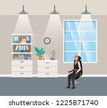 corridor office with...   Shutterstock .eps vector #1225871740