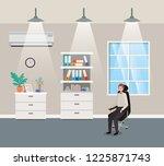 corridor office with...   Shutterstock .eps vector #1225871743