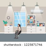 corridor office with...   Shutterstock .eps vector #1225871746