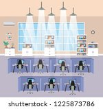 modern office workplace... | Shutterstock .eps vector #1225873786