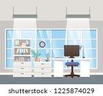 modern office boss scene | Shutterstock .eps vector #1225874029