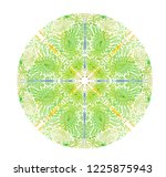 green mandala with turkish... | Shutterstock .eps vector #1225875943