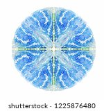 blue abstract vector mandala.... | Shutterstock .eps vector #1225876480