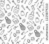 zero waste seamless pattern.... | Shutterstock .eps vector #1225879210