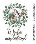 christmas watercolor collection ...   Shutterstock . vector #1225880020