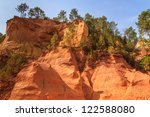 red cliffs in roussillon  les... | Shutterstock . vector #122588080