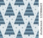 christmas trees seamless... | Shutterstock .eps vector #1225886623