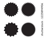 starburst  sunburst badges ... | Shutterstock .eps vector #1225894906