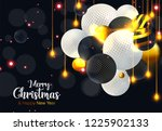 christmas and new year... | Shutterstock .eps vector #1225902133