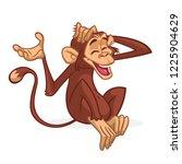 cute cartoon monkey sitting....   Shutterstock .eps vector #1225904629