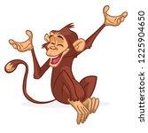 cute monkey chimpanzee flat...   Shutterstock .eps vector #1225904650