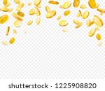 earnings gold money rain.... | Shutterstock . vector #1225908820