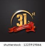 31 anniversary design logotype... | Shutterstock .eps vector #1225919866