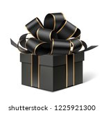 decorative black gift box with... | Shutterstock .eps vector #1225921300