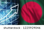 one dollars and bangladesh   3d ...   Shutterstock . vector #1225929046