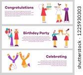 vector illustration set of... | Shutterstock .eps vector #1225930303
