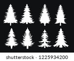 christmas trees. set of fir... | Shutterstock .eps vector #1225934200