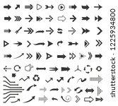 vector arrow icon set | Shutterstock .eps vector #1225934800