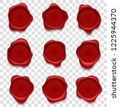 wax stamps. retro postage stamp ...   Shutterstock .eps vector #1225944370