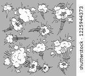 speed cloud comic. cartoon fast ... | Shutterstock .eps vector #1225944373