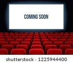 cinema hall. movie interior... | Shutterstock .eps vector #1225944400