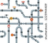industrial pipes seamless...   Shutterstock .eps vector #1225944409