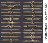 art deco divider. gold retro... | Shutterstock .eps vector #1225944430