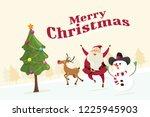 merry christmas santa claus...   Shutterstock .eps vector #1225945903