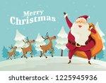 merry christmas santa claus...   Shutterstock .eps vector #1225945936