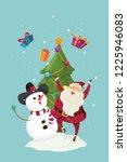 merry christmas santa claus...   Shutterstock .eps vector #1225946083