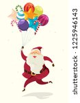 merry christmas  santa claus...   Shutterstock .eps vector #1225946143