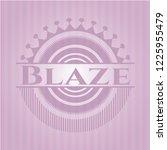blaze realistic pink emblem | Shutterstock .eps vector #1225955479