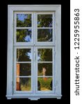 Old Window With Glass Isolated...