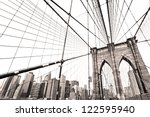 the brooklyn bridge  new york... | Shutterstock . vector #122595940