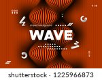 3d poster with wave stripes....   Shutterstock .eps vector #1225966873