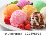 Stock photo scoops of ice cream assorted flavors 122596918