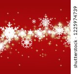 snowflakes on color background. ... | Shutterstock . vector #1225974739