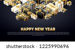 new year background with... | Shutterstock .eps vector #1225990696