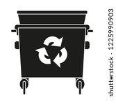 black and white garbage bin...   Shutterstock .eps vector #1225990903
