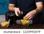 overeating  sedentary lifestyle ... | Shutterstock . vector #1225992079