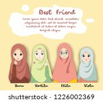 vector of muslimah women for... | Shutterstock .eps vector #1226002369