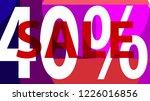 sale pink banner. off poster...   Shutterstock .eps vector #1226016856