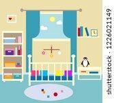 baby room  flat design... | Shutterstock .eps vector #1226021149