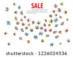 vector illustration. people run ... | Shutterstock .eps vector #1226024536