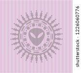 alien icon inside badge with... | Shutterstock .eps vector #1226060776