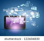 modern communication technology ... | Shutterstock . vector #122606830