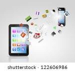 modern communication technology ... | Shutterstock . vector #122606986