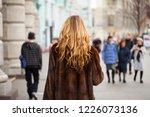 female long wavy blonde hair ...   Shutterstock . vector #1226073136