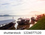 passenger boat parked at the... | Shutterstock . vector #1226077120